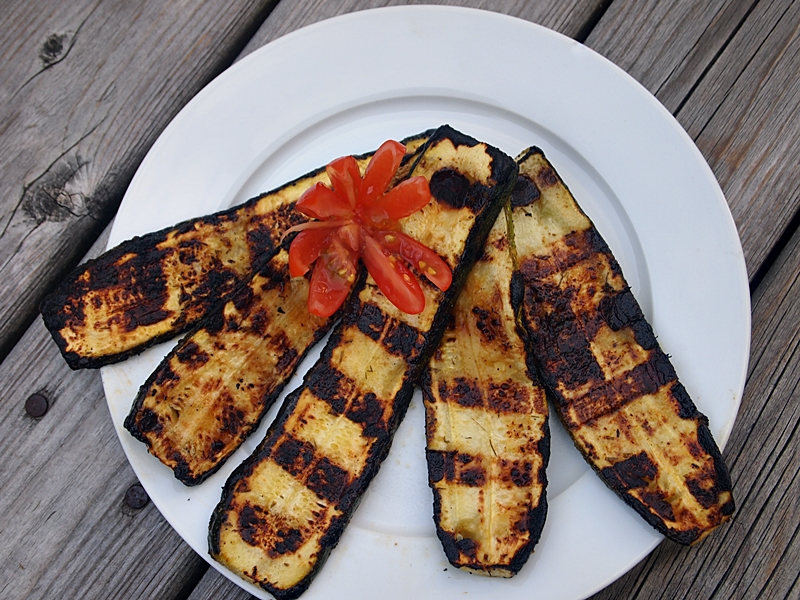 Grilled Lemon Zucchinis