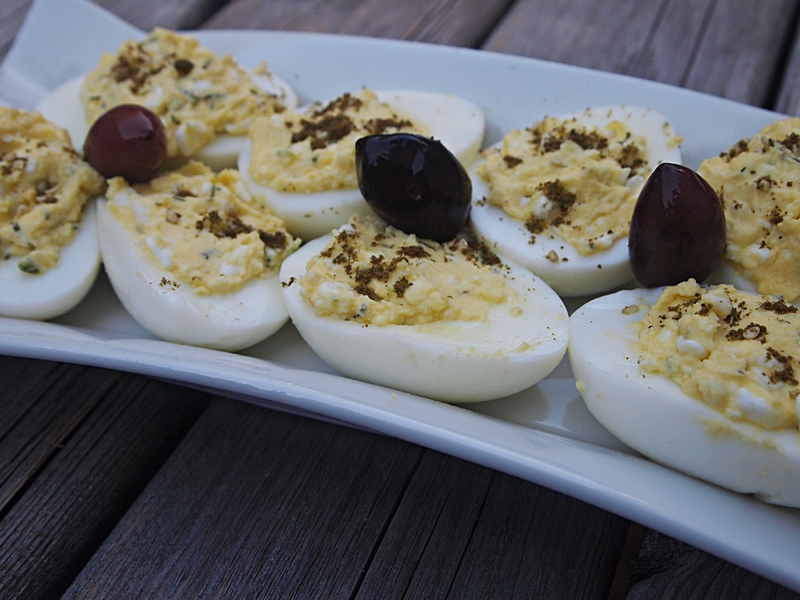 Deviled Eggs with cottage cheese