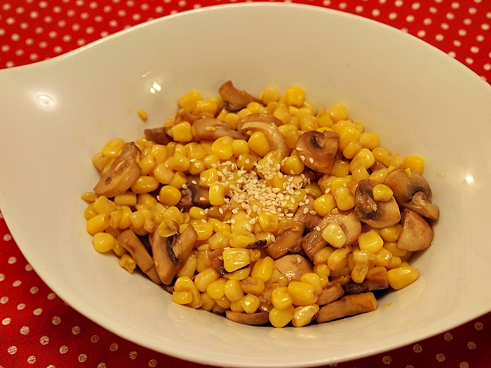 Mushroom and Corn Salad