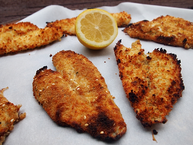 Breaded baked sole fillets inspired by gwenyth paltrow for How to bread fish