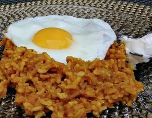 Lentil Rice with Sunny Side Up