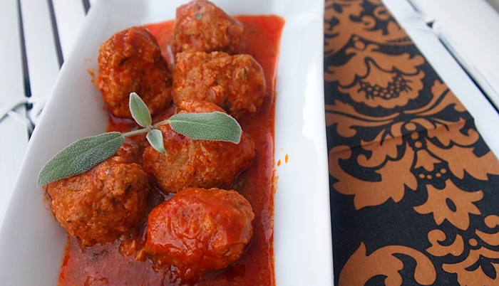 Beef Meatballs in Red Sauce