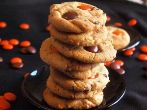 Halloween Sugar Cookies with Smarties and Sprinkles