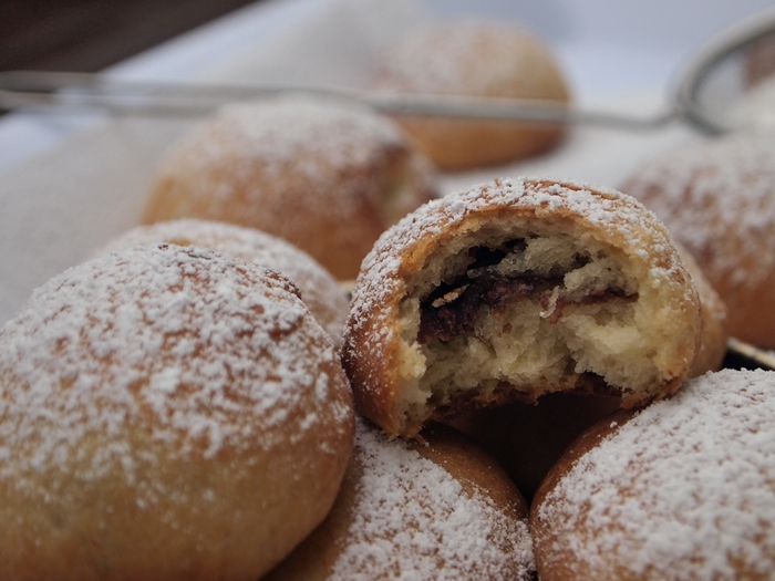 Chocolate Filled Baked Mini Doughnuts
