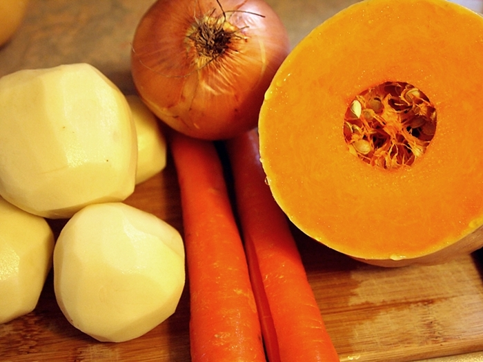 Smooth Butternut Squash Soup Vegetables