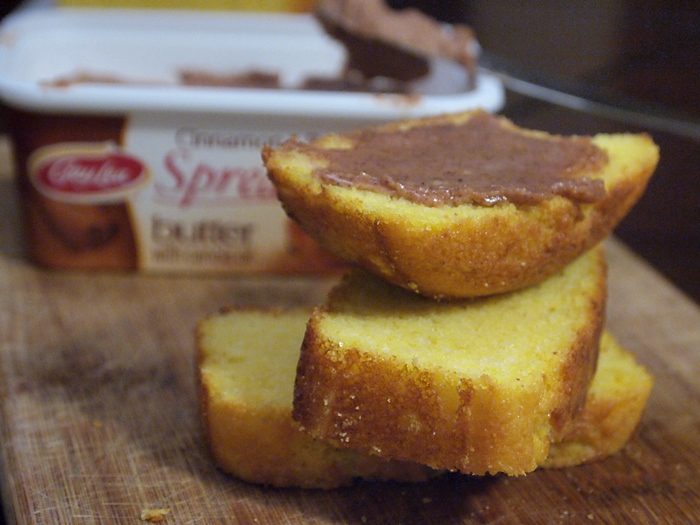 Maple Cornbread with cinnamon and brown sugar butter