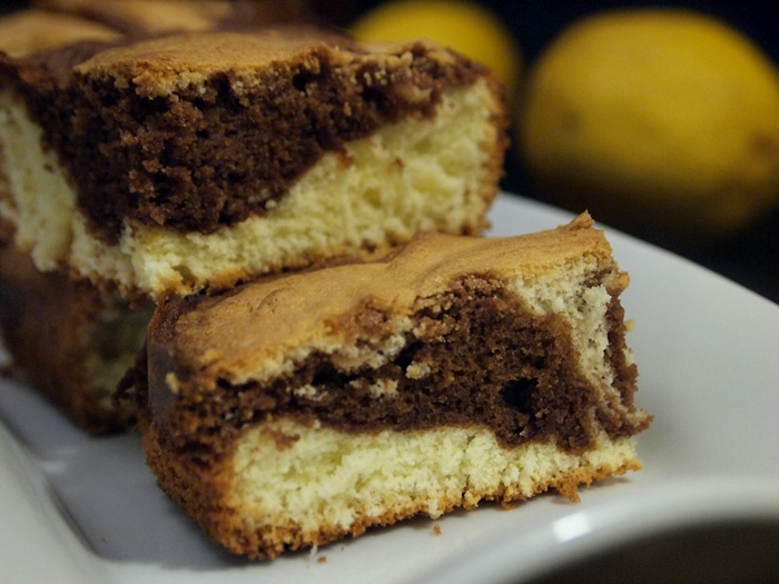 The best lemon chocolate marble cake