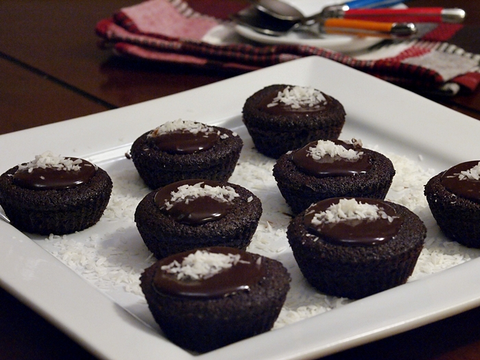 Moist Quinoa Chocolate Muffins with Chocolate Ganache