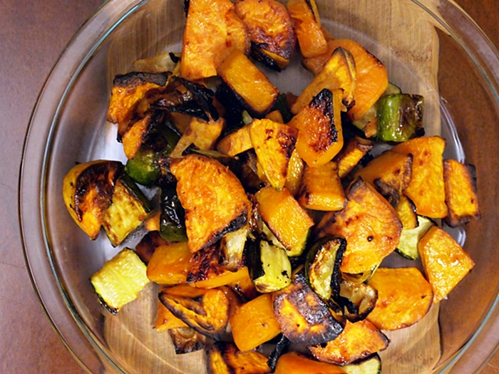 Maple Garlic Roasted Vegetables