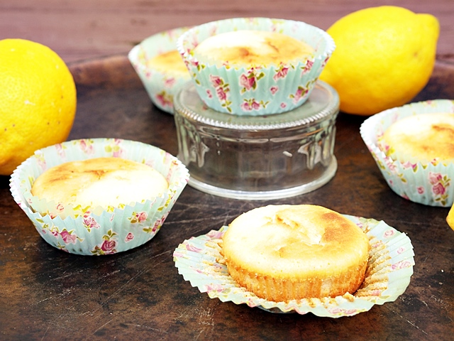 Lemon Muffins With Coconut Oil