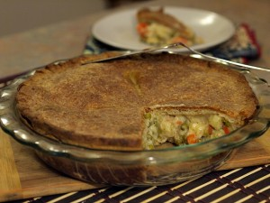 Chickenless Pot Pie with coconut Oil Crust
