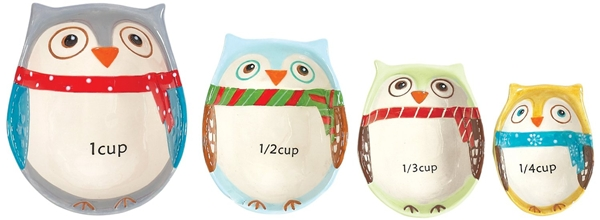 Ceramic Owl measuring cups