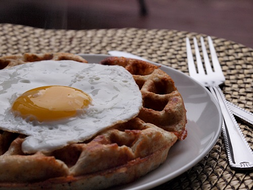 Cheese and feta waffles