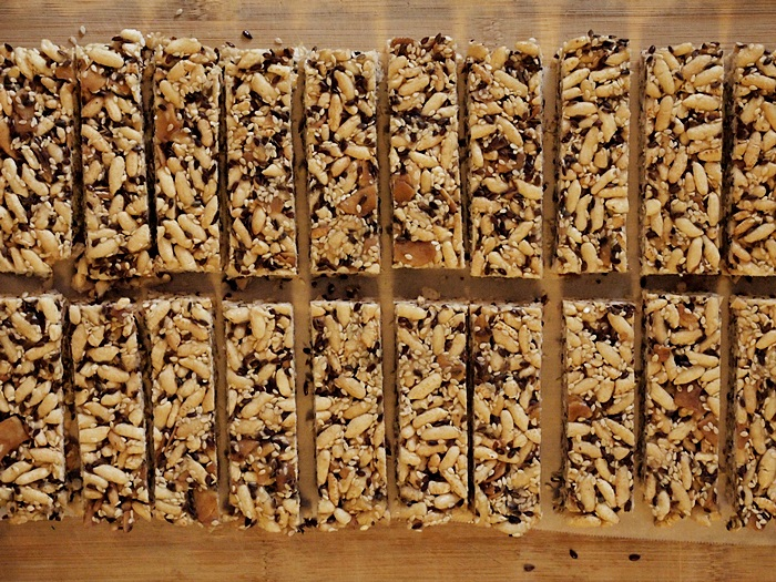 Brown Rice, Sesame & Coconut Energy Bars
