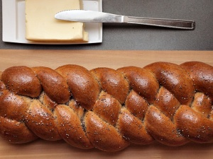 Whole Wheat Maple Challah with MAple Glaze
